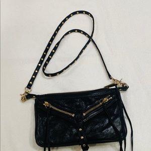 Botkier black crossbody handbag with gold hardware